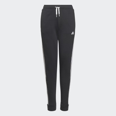 Girls Lifestyle Black adidas Essentials 3-Stripes French Terry Pants
