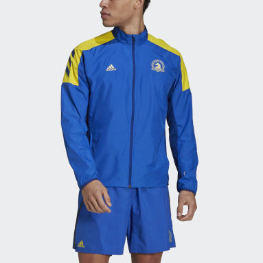Men Running Blue Boston Marathon® Celebration Jacket