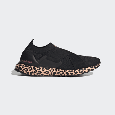Women Running Black Ultraboost Slip-On Swarovski® DNA Shoes