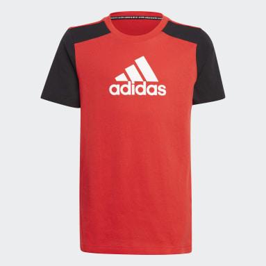 Boys Gym & Training Red Logo Tee