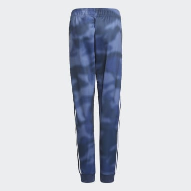 Pantalon Allover Print Camo SST Bleu Adolescents Originals