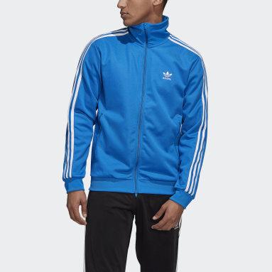Muži Originals modrá Tepláková bunda Adicolor Classics Beckenbauer Primeblue