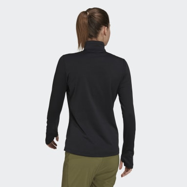 Women TERREX Black Terrex Everyhike Half-Zip Fleece Jacket
