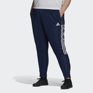 Women's Soccer Blue Tiro Track Pants (Plus Size)
