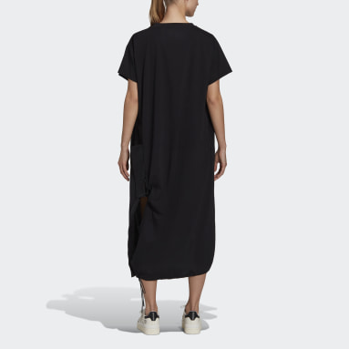 Women Y-3 Black Y-3 Classic Jersey Short Sleeve Tee Dress