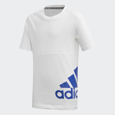T-shirt Must Haves Badge of Sport Blanc Garçons Yoga