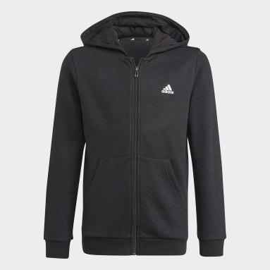 Hoodie adidas Essentials Full-Zip Nero Ragazzo Sportswear