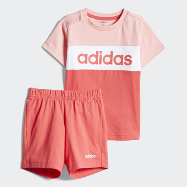 Kids Gym & Training Pink Colorblock Jogger Set