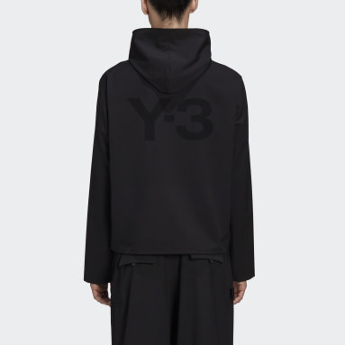 Men Y-3 Black Y-3 Classic Stretch Hooded Windbreaker