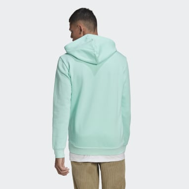 Men Originals Turquoise LOUNGEWEAR Trefoil Essentials Hoodie