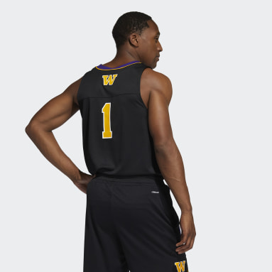 Men's Basketball Black Huskies Reverse Retro Jersey