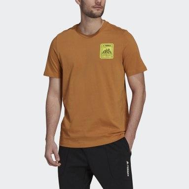 Camiseta Terrex Patch Mountain Graphic Marrón Hombre TERREX