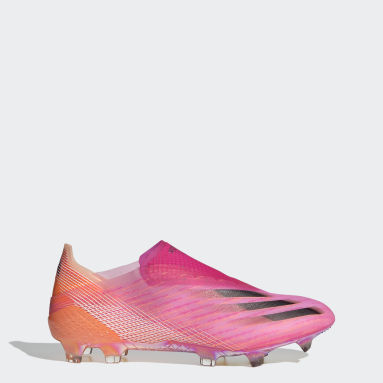 Bota de fútbol X Ghosted+ césped natural seco Rosa Fútbol