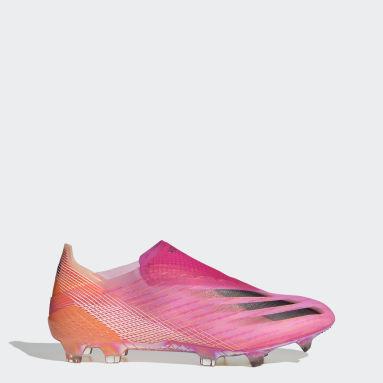 Fodbold Pink X Ghosted+ Firm Ground støvler
