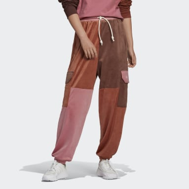 Women Originals Burgundy Cargo Pants