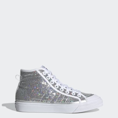 Women Originals Silver Nizza High Shoes