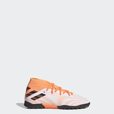 Children Soccer White Nemeziz.3 Turf Shoes
