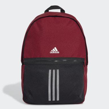 Training Burgundy Classic 3-Stripes Backpack