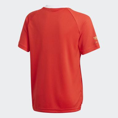 Boys Gym & Training Red Salah Football Inspired Tee