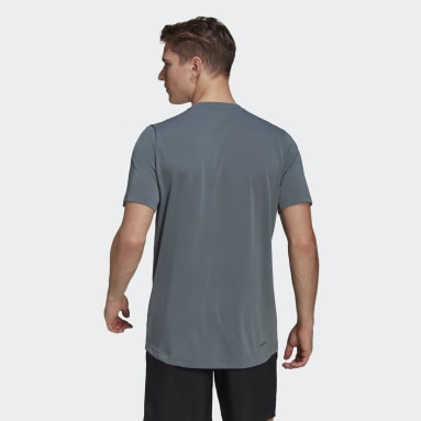 Men Training Blue AEROREADY Designed 2 Move Feelready Sport Tee