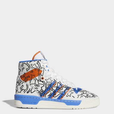 Men's Originals White Rivalry Hi Keith Haring Shoes