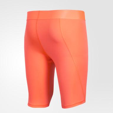 Calzas cortas Alphaskin Sport Naranja Hombre Fútbol