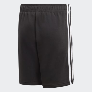 Boys Sportswear Black Essentials 3-Stripes Knit Shorts