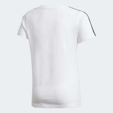Mädchen Fitness & Training Gym T-Shirt Weiß