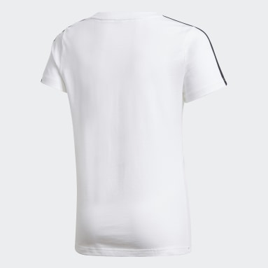 T-shirt Gym Blanc Filles Fitness Et Training