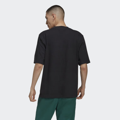 Men Originals Black Rib Detail Tee