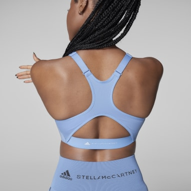 Sujetador TruePurpose Medium Support Azul Mujer adidas by Stella McCartney