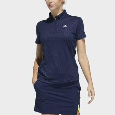 Women Golf Blue Polo Shirt