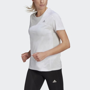 Frauen Running HEAT.RDY Running T-Shirt Weiß