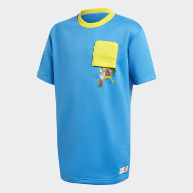 Děti Cvičení A Trénink modrá Tričko adidas x Classic LEGO® Bricks Loose Fit