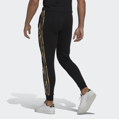 Muži Sportswear černá Kalhoty Essentials Fleece Camo-Print