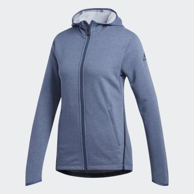 Frauen Fitness & Training FreeLift Light Kapuzenjacke Blau