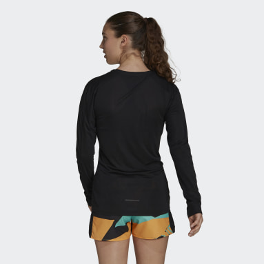 Women TERREX Black Terrex Primeblue Trail Long-Sleeve Top