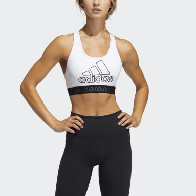 Women Training White Don't Rest Badge of Sport Bra