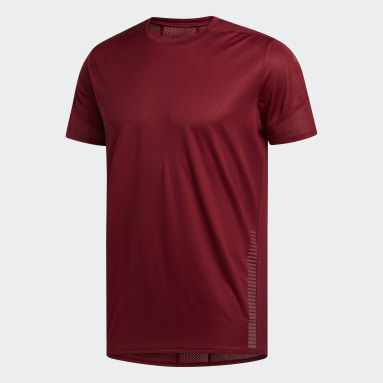 Playera 25/7 Rise Up N Run Parley Granate Hombre Running