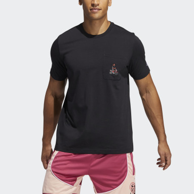Men Basketball Black Harden Avatar Pocket Tee