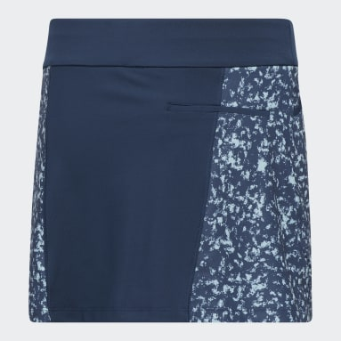 Girls Golf Blue Girls' Print Skort