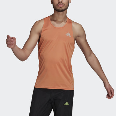 Men Running Orange Own the Run Singlet