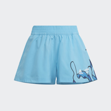 Girls Training Turquoise Aaron Kai Shorts