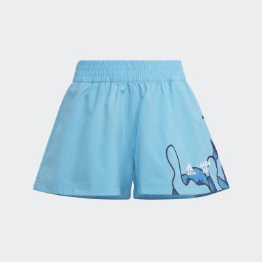 Short Aaron Kai Turquoise Filles Fitness Et Training