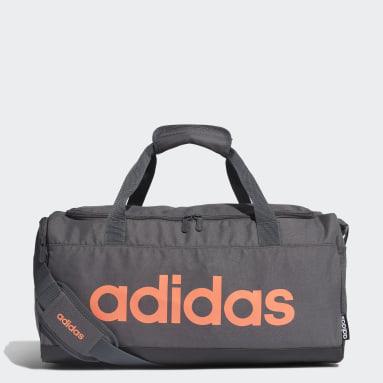 Gym & Training Grey Linear Logo Duffel Bag