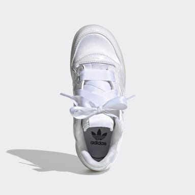 Children Originals White Forum Satin Low Shoes