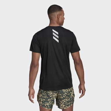 Men Running Black Fast Primeblue Tee