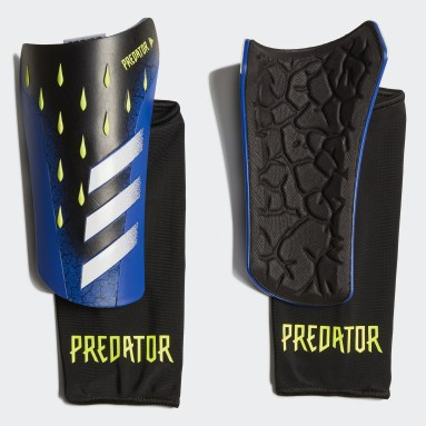 Football Black Predator League Shin Guards