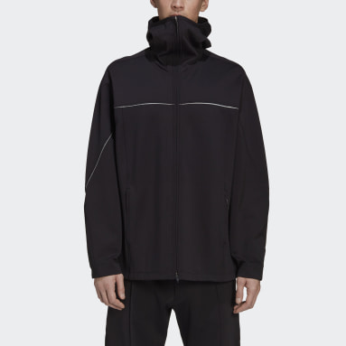 Men Y-3 Black Y-3 CH1 Knit Shell Full-Zip Hoodie