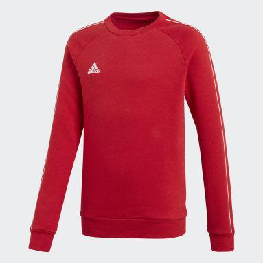 Sweat-shirt Core 18 Rouge Enfants Fitness Et Training